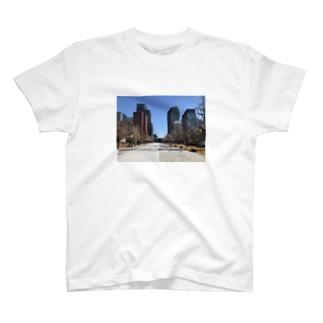 東京駅に続く大通り T-shirts