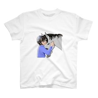僕とカズ君【ほのぼの】(馬) T-shirts