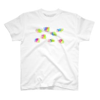 ゆるあしゆびふれんず色収差 T-shirts