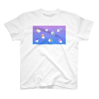 ゆるあしゆびふれんずグラデーション T-shirts