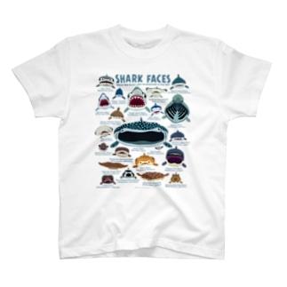 サメカオlightcolor T-shirts