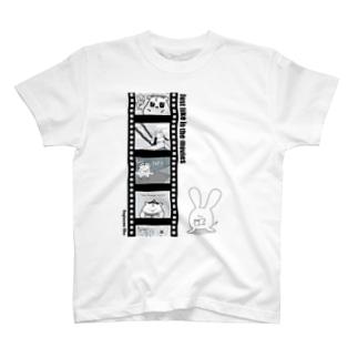 シネマ鷺ハム・背景透過ver T-shirts