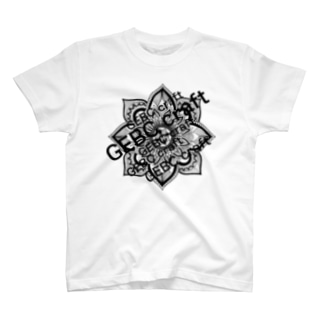 mandala black T-shirts