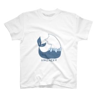 ウミネコ(線あり) T-shirts