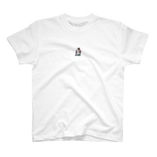 ひまわりステッカー反転 T-shirts