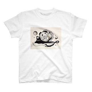 蛇の尾のカタツムリ T-shirts