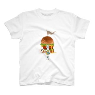 ばかでかハンバガ T-shirts