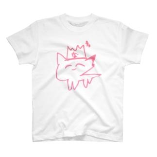 ハイブランド猫Tee 幸薄いピンク T-shirts