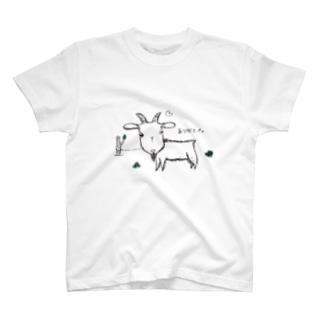 カフェ看板ヤギT T-shirts