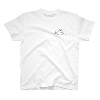 男前な文鳥 訂正版 T-shirts