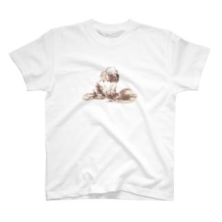 wanpaku dog T-shirts