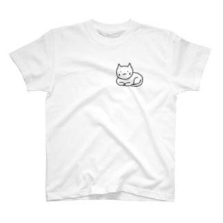 香箱にゃんこ Tシャツ T-shirts