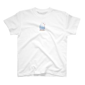 おしゃまな止まり木セキセイインコちゃん【まめるりはことり】 T-shirts
