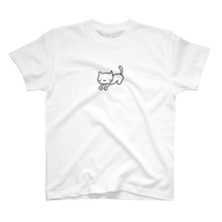 背伸びにゃんこ Tシャツ T-shirts