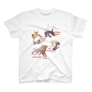 プロレスにゃんこ T-shirts
