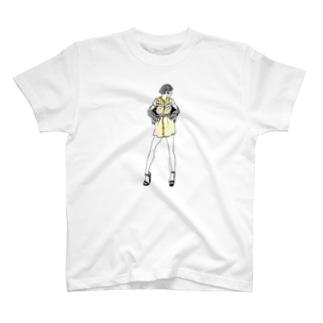 """""""Yellow"""" いけじょファッショニスタ T-shirts"""