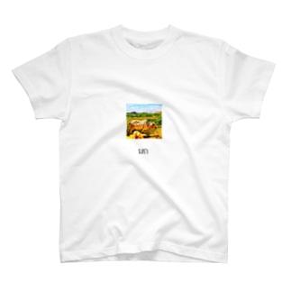 まっさん@カンボジアでサイクリングのカンボジア文字付き牛フォトT T-shirts