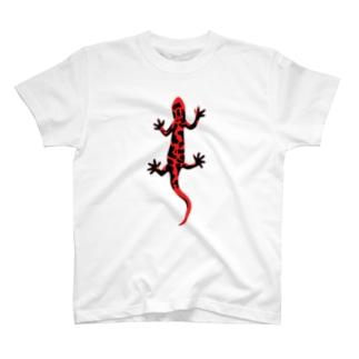 アカハライモリのおなか T-shirts