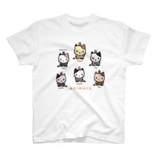 シャツにゃんこ T-shirts