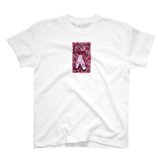 バレエコレクション トウシューズ pink T-shirts