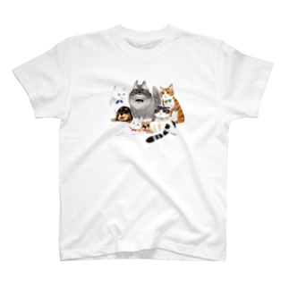 保護猫喫茶要にゃんこ亭オールスターズ☆ T-shirts