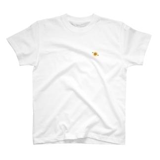 ひまわりワンポイントTシャツ T-shirts
