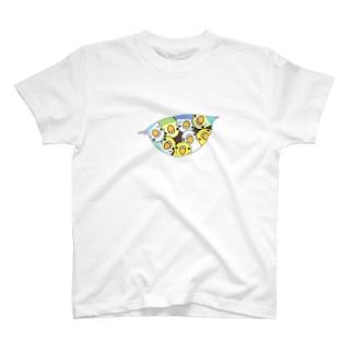 三密です!むちむちセキセイインコさん【まめるりはことり】 T-shirts