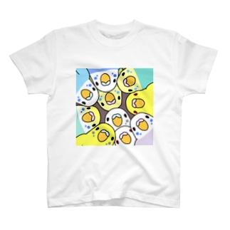 みっちりむっちり過密セキセイインコさん【まめるりはことり】 T-shirts