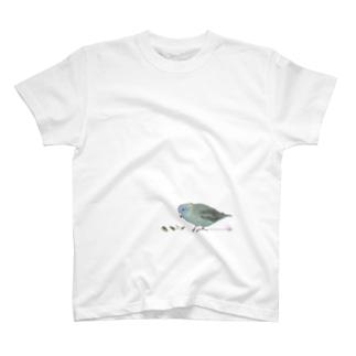 もぐもぐサザナミインコ【グレイウイングコバルト】 T-shirts