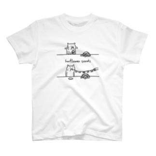 ハムスターと万国旗 T-shirts