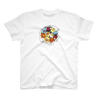 三密です!むちむち鳥まみれ【まめるりはことり】 T-shirts