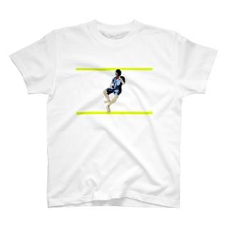 朝コーヒー男子 Yellow (限定10品) T-shirts