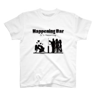 HAPPENING BAR シルエット T-shirts