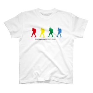 ドルフィンインダストリー&ストックヤード Official storeの4色カラーTシャツ T-shirts