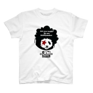 アフロヘアーのパンダ!! T-shirts