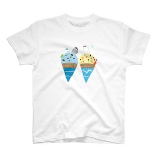 南極・北極アイス T-shirts
