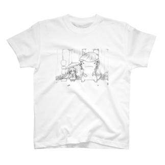 【アクシズ】となりのウーパールーパー(線画) T-shirts