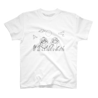 【アクシズ】十五夜ダンセン!(線画) T-shirts
