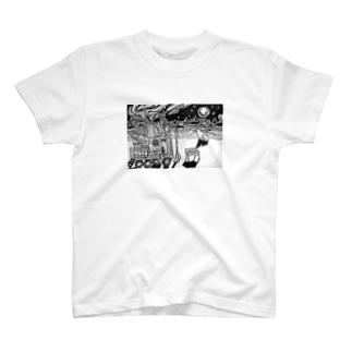 オーロラのよる T-shirts