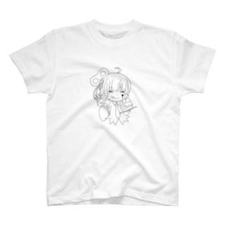 ぜんまい娘(ケーキ白黒Ver.) T-shirts