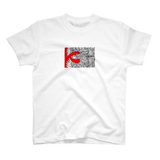 鳳凰さん2(白) T-shirts