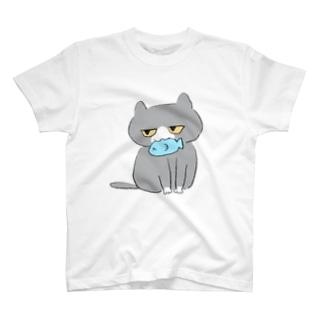 魚とねこちゃん T-shirts