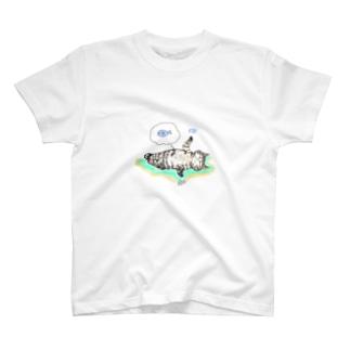 ダウジングにゃんこ T-shirts