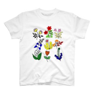 ボタニカル三昧 ズーム T-shirts