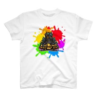 インク柄 T-shirts