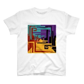 混ざりかけの五色ドット T-shirts