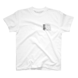 魔除け厄除けに鬼瓦 T-shirts