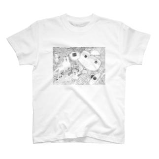 少女は、旅をするそこで出会ったもの T-shirts