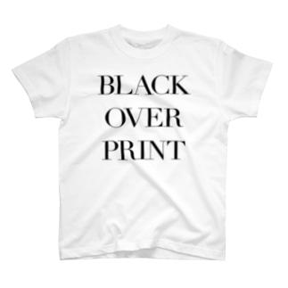 ブラックオーバープリント(スミノセ) T-shirts