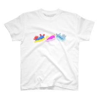 ウミウシ3うみうし T-shirts